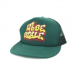 W-BASE - OLD SCHOOL LOGO MESH CAP - GREEN