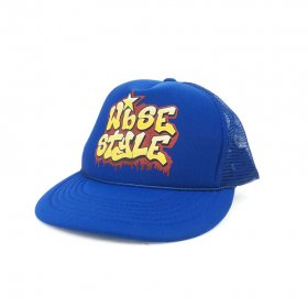 W-BASE - OLD SCHOOL LOGO MESH CAP - BLUE