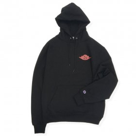 W-BASE WING LOGO PULLOVER HOODIE BLACK