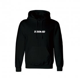 <img class='new_mark_img1' src='https://img.shop-pro.jp/img/new/icons5.gif' style='border:none;display:inline;margin:0px;padding:0px;width:auto;' />DOOMED - PULL OVER HOODIE - BLACK