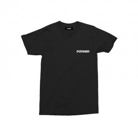<img class='new_mark_img1' src='//img.shop-pro.jp/img/new/icons5.gif' style='border:none;display:inline;margin:0px;padding:0px;width:auto;' />DOOMED - LAD T-SHIRTS - BLACK