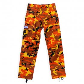 <img class='new_mark_img1' src='//img.shop-pro.jp/img/new/icons5.gif' style='border:none;display:inline;margin:0px;padding:0px;width:auto;' />W-BASE - COLORED CAMO PANTS - ORANGE CAMO