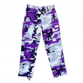 <img class='new_mark_img1' src='https://img.shop-pro.jp/img/new/icons5.gif' style='border:none;display:inline;margin:0px;padding:0px;width:auto;' />W-BASE - COLORED CAMO PANTS - PURPLE CAMO