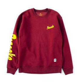 <img class='new_mark_img1' src='https://img.shop-pro.jp/img/new/icons5.gif' style='border:none;display:inline;margin:0px;padding:0px;width:auto;' />PNCK - FLOCK PRINT CREW NECK SWEAT - BURGUNDY
