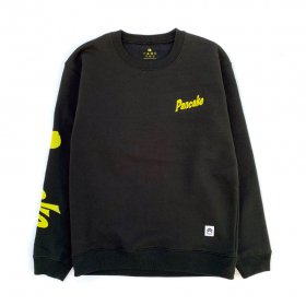 <img class='new_mark_img1' src='//img.shop-pro.jp/img/new/icons5.gif' style='border:none;display:inline;margin:0px;padding:0px;width:auto;' />PNCK - FLOCK PRINT CREW NECK SWEAT - BLACK
