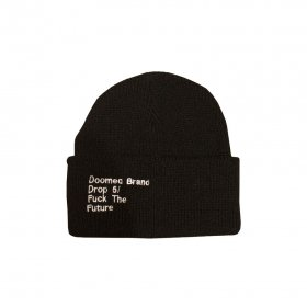 <img class='new_mark_img1' src='//img.shop-pro.jp/img/new/icons5.gif' style='border:none;display:inline;margin:0px;padding:0px;width:auto;' />DOOMED - FTF BEANIE - BLACK