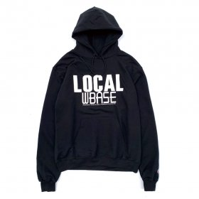 <img class='new_mark_img1' src='https://img.shop-pro.jp/img/new/icons5.gif' style='border:none;display:inline;margin:0px;padding:0px;width:auto;' />W-BASE - LOCAL PULLOVER HOODIE - BLACK