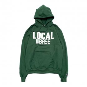 <img class='new_mark_img1' src='//img.shop-pro.jp/img/new/icons5.gif' style='border:none;display:inline;margin:0px;padding:0px;width:auto;' />W-BASE - LOCAL PULLOVER HOODIE - GREEN