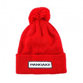 <img class='new_mark_img1' src='https://img.shop-pro.jp/img/new/icons5.gif' style='border:none;display:inline;margin:0px;padding:0px;width:auto;' />PANCAKE - WAPPEN POM POM BEANIE - RED