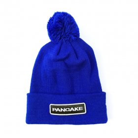 <img class='new_mark_img1' src='https://img.shop-pro.jp/img/new/icons5.gif' style='border:none;display:inline;margin:0px;padding:0px;width:auto;' />PANCAKE - WAPPEN POM POM BEANIE - BLUE