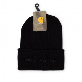 Act Like You Know - ALYK. Corp. X Carhartt Beanie - Black