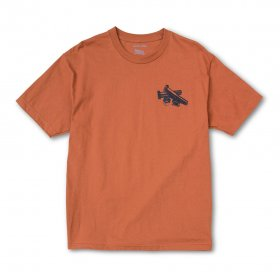 ACT LIKE YOU KNOW - Bolts T-Shirt - Burnt orange