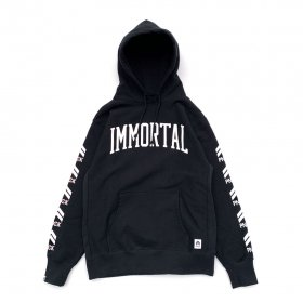 <img class='new_mark_img1' src='//img.shop-pro.jp/img/new/icons5.gif' style='border:none;display:inline;margin:0px;padding:0px;width:auto;' />PNCK× IMMORTAL RECORDS - COLLABORATED P.O.HOODIE - BLACK