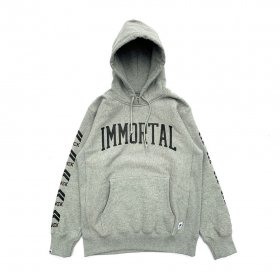 <img class='new_mark_img1' src='https://img.shop-pro.jp/img/new/icons5.gif' style='border:none;display:inline;margin:0px;padding:0px;width:auto;' />PNCK× IMMORTAL RECORDS - COLLABORATED P.O.HOODIE - GREY