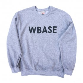 <img class='new_mark_img1' src='https://img.shop-pro.jp/img/new/icons5.gif' style='border:none;display:inline;margin:0px;padding:0px;width:auto;' />W-BASE - WARMY LOGO - CREW NECK SWEAT - GRAY