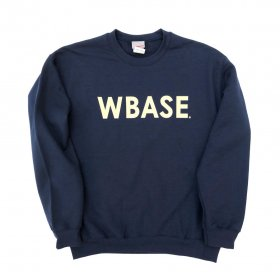<img class='new_mark_img1' src='https://img.shop-pro.jp/img/new/icons5.gif' style='border:none;display:inline;margin:0px;padding:0px;width:auto;' />W-BASE - WARMY LOGO - CREW NECK SWEAT - NAVY