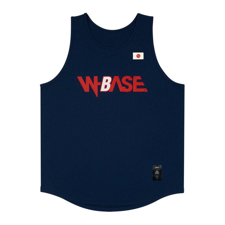 <img class='new_mark_img1' src='https://img.shop-pro.jp/img/new/icons20.gif' style='border:none;display:inline;margin:0px;padding:0px;width:auto;' />W-BASE x ballaholic - TankTop - NAVY