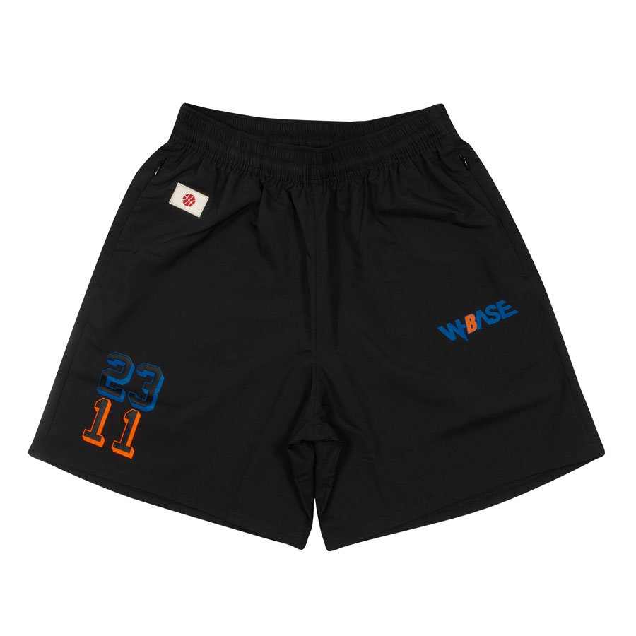 W-BASE x ballaholic - Zip Shorts - BLACK