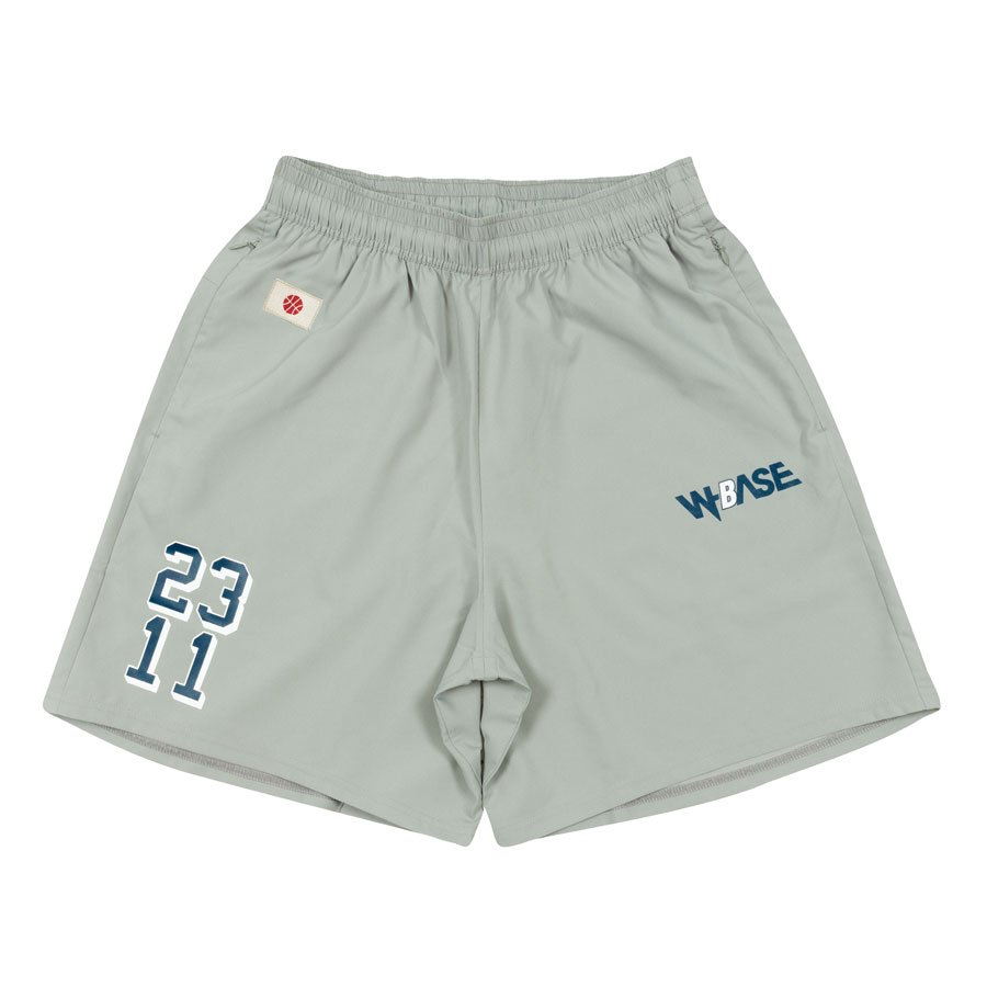 W-BASE x ballaholic - Zip Shorts - GRAY