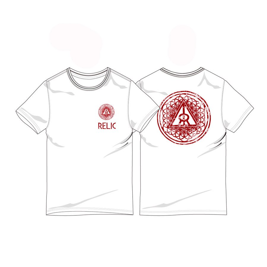 *RELIC - CREATION T-SHIRT - WHITE/MARRON<img class='new_mark_img2' src='https://img.shop-pro.jp/img/new/icons15.gif' style='border:none;display:inline;margin:0px;padding:0px;width:auto;' />