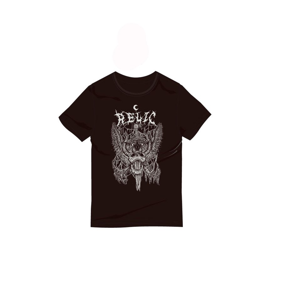 *RELIC - PIERCED T-SHIRT - BLACK/GREY<img class='new_mark_img2' src='https://img.shop-pro.jp/img/new/icons15.gif' style='border:none;display:inline;margin:0px;padding:0px;width:auto;' />
