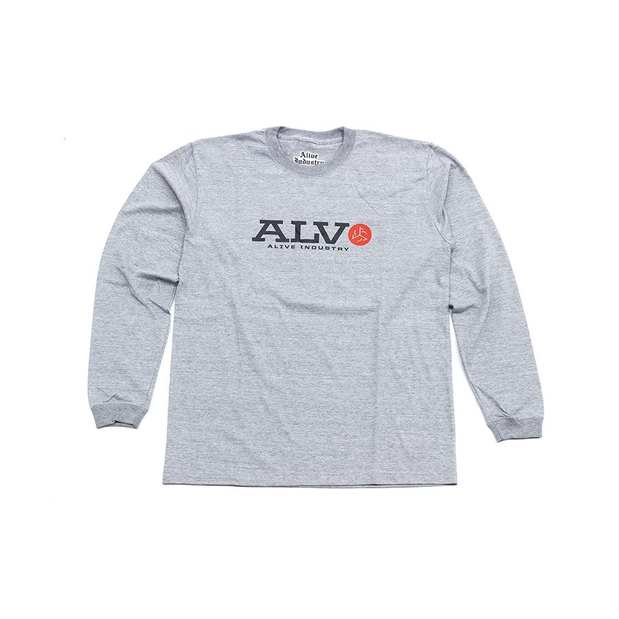 <img class='new_mark_img1' src='https://img.shop-pro.jp/img/new/icons5.gif' style='border:none;display:inline;margin:0px;padding:0px;width:auto;' />*ALIVE INDUSTRY - ALV LONG SLEEVE - GREY