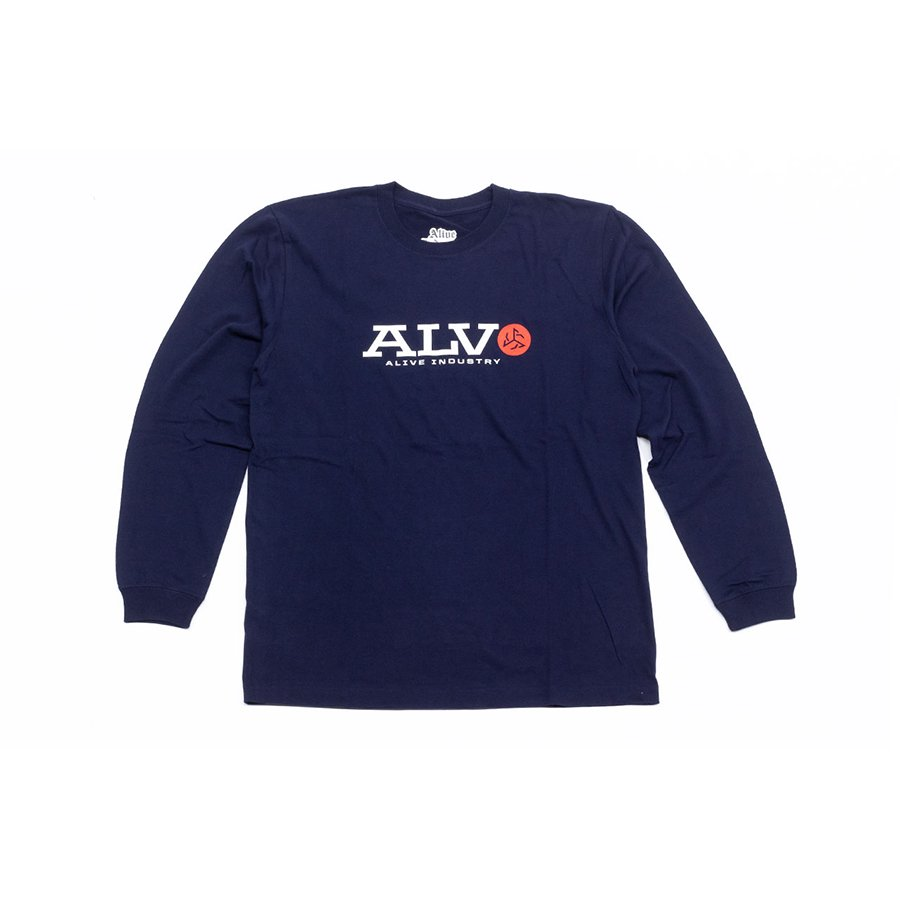 <img class='new_mark_img1' src='https://img.shop-pro.jp/img/new/icons5.gif' style='border:none;display:inline;margin:0px;padding:0px;width:auto;' />*ALIVE INDUSTRY - ALV LONG SLEEVE - NAVY