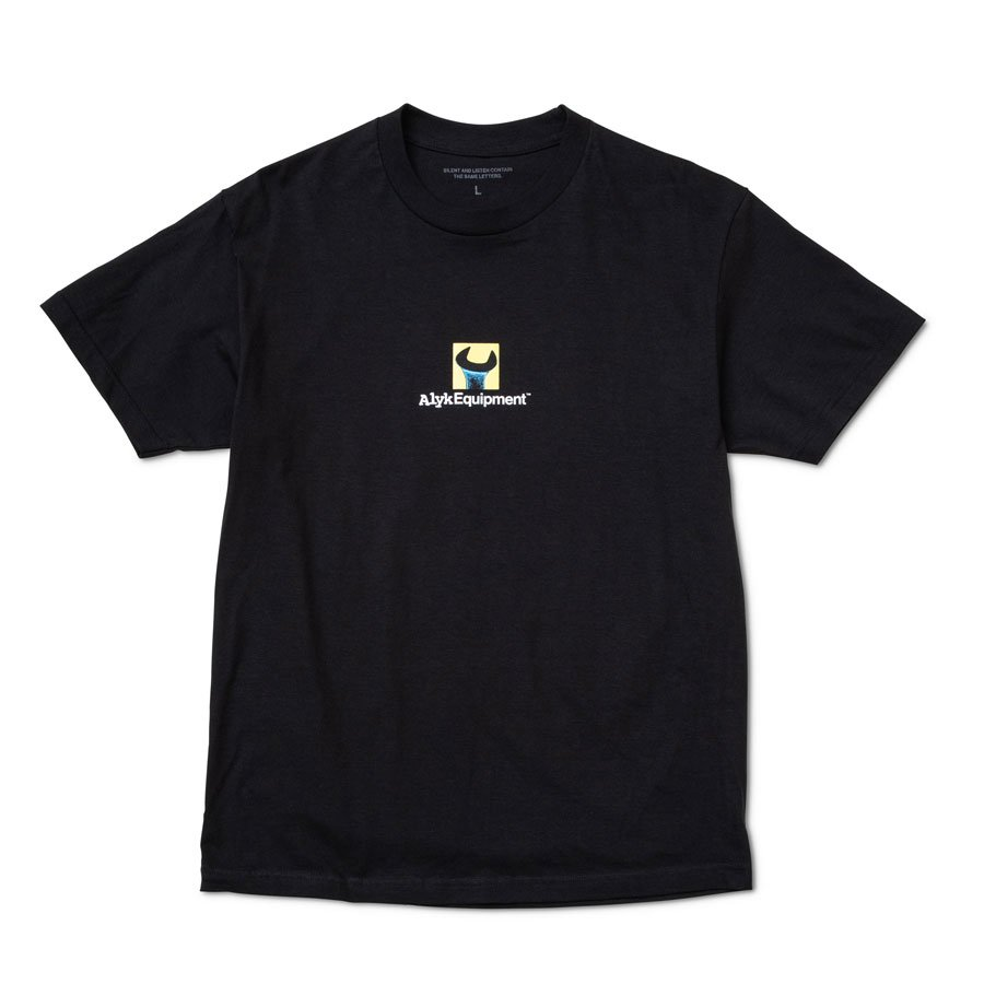 ALYK – Equipment Screen Printed T-Shirt/Black