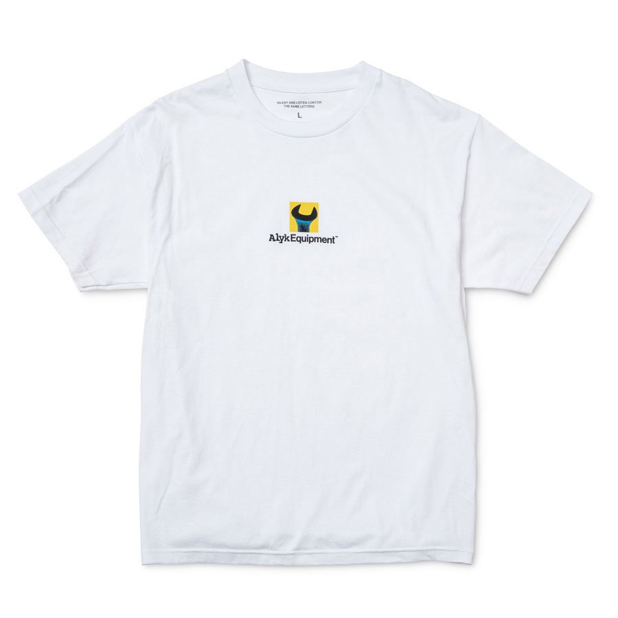 ALYK – Equipment Screen Printed T-Shirt/White
