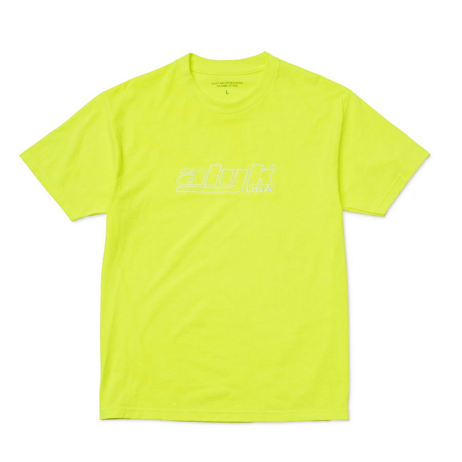 <img class='new_mark_img1' src='//img.shop-pro.jp/img/new/icons15.gif' style='border:none;display:inline;margin:0px;padding:0px;width:auto;' />ALYK – Racing Logo Embroidered T-Shirt/NeonYellow
