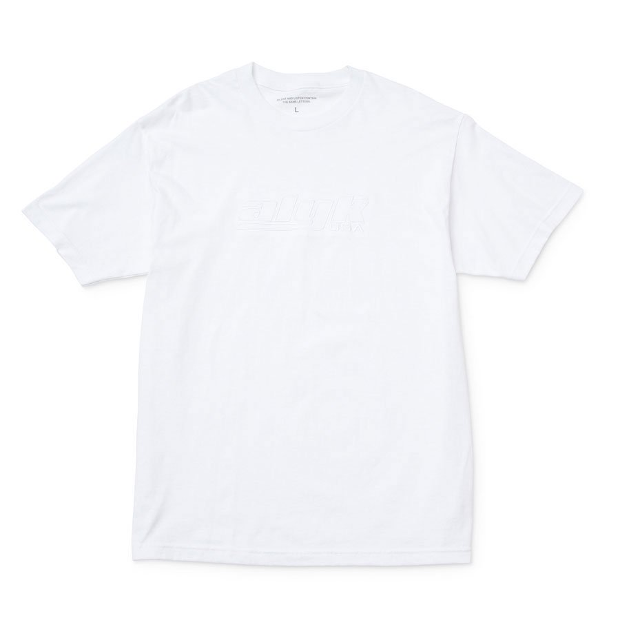 ALYK – Racing Logo Embroidered T-Shirt/White