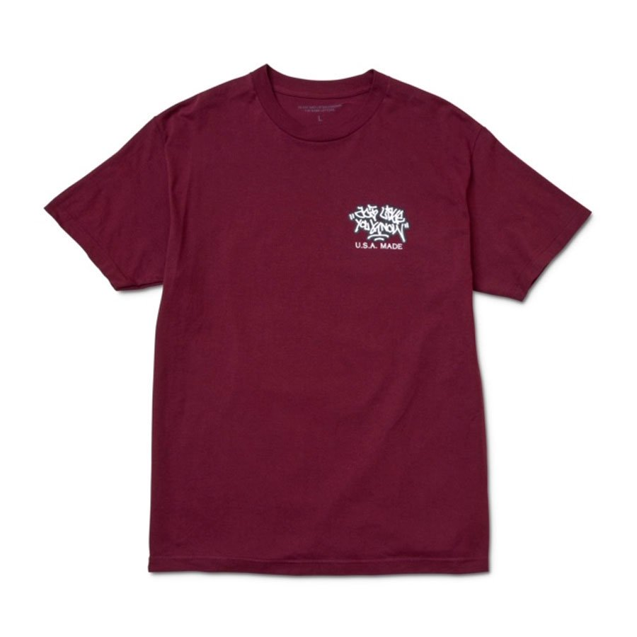 ALYK – Location Screen Printed T-Shirt/Burgundy