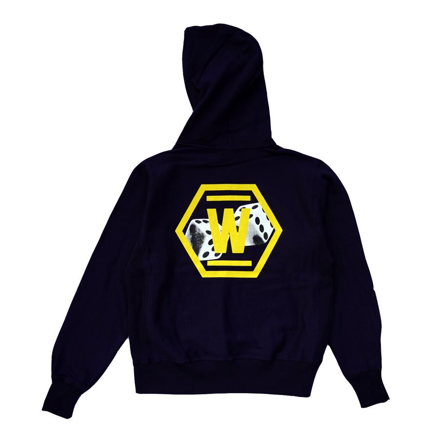 <img class='new_mark_img1' src='https://img.shop-pro.jp/img/new/icons20.gif' style='border:none;display:inline;margin:0px;padding:0px;width:auto;' />DICE&DICE × W-BASE  LIMITED HOODIE NAVY