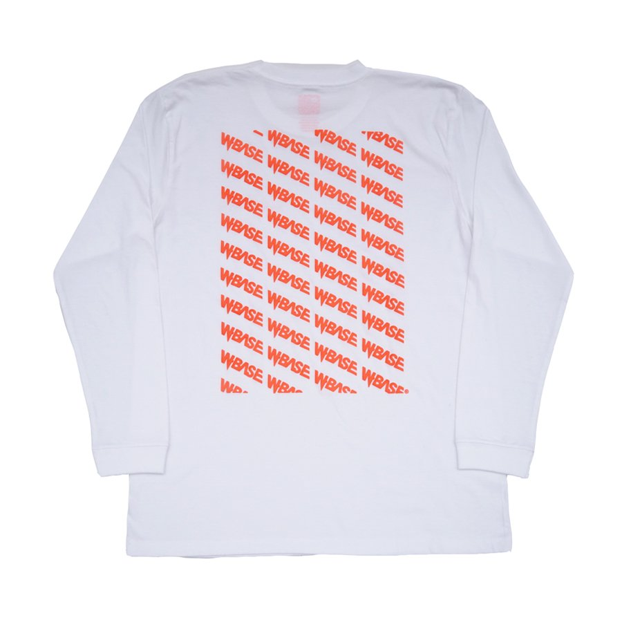 TOKYO SKATEBOARD PICNIC CLUB × W-BASE - FOAM PRINT L/S TEE - WHITE/ORANGE