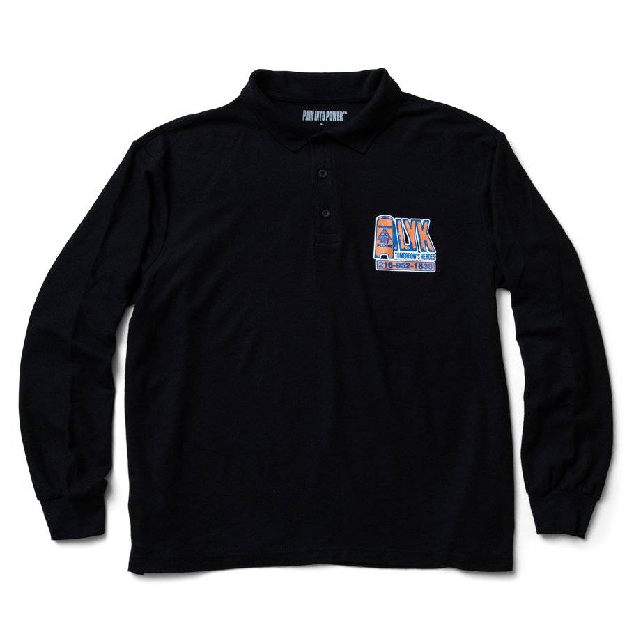 ALYK - Tomorrow's Heroes Long Sleeve Polo / Black