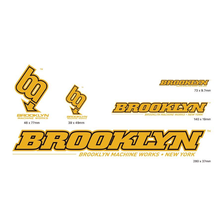 BROOKLYN MACHINE WORKS  - STICKER SET- YELLOW / BLACK