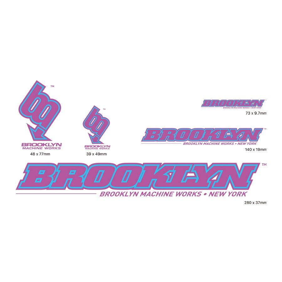BROOKLYN MACHINE WORKS - STICKER SET - PURPLE / LIGHT BLUE