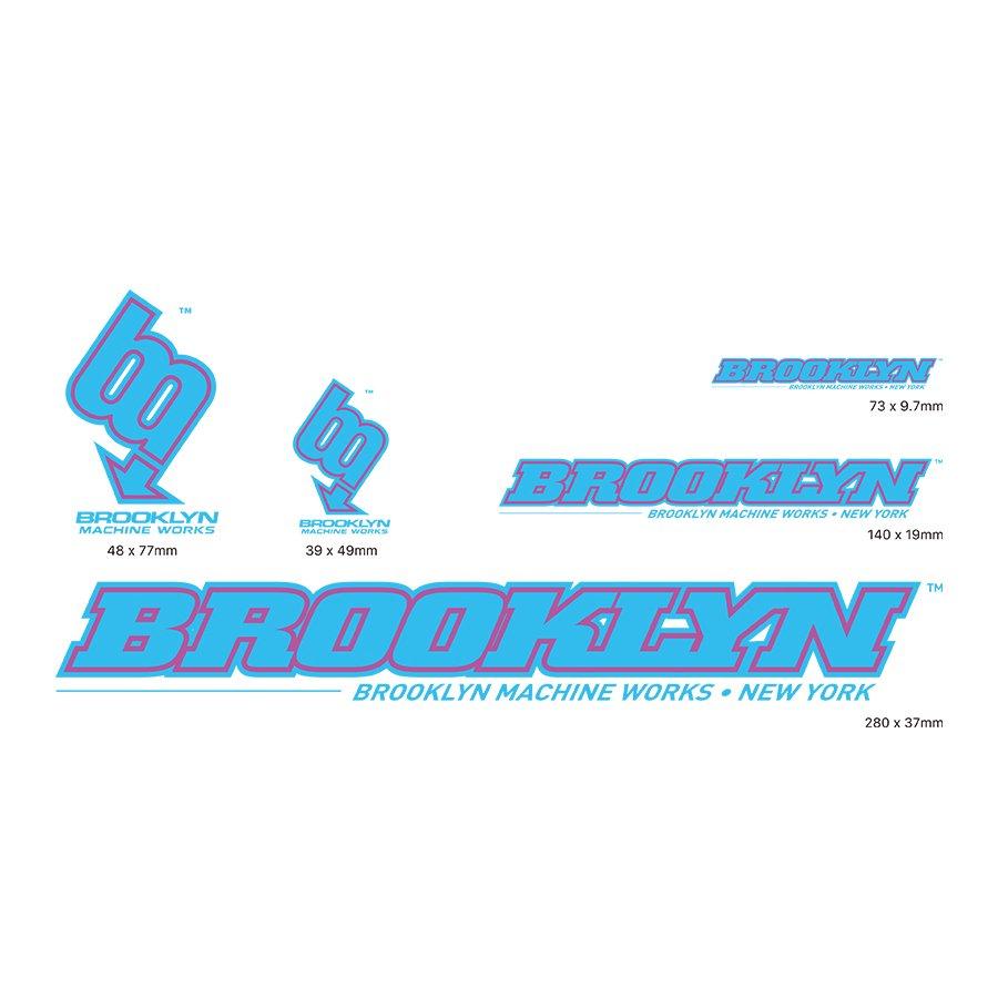 BROOKLYN MACHINE WORKS - STICKER SET - LIGHT BLUE / PURPLE