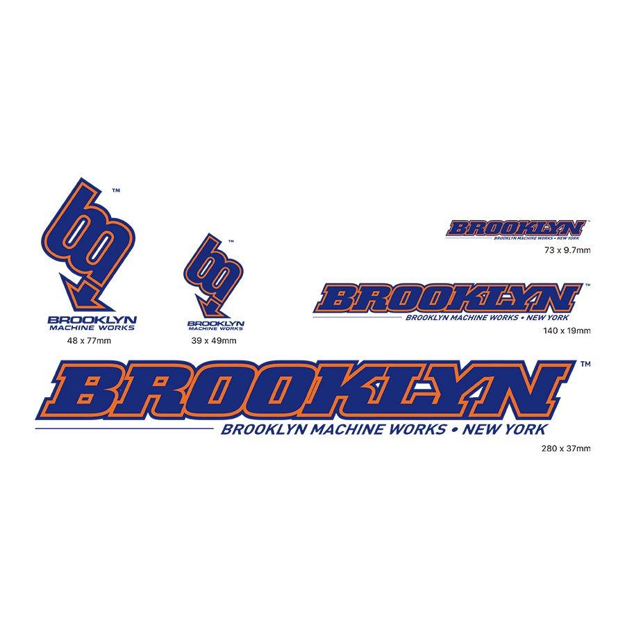 BROOKLYN MACHINE WORKS -  STICKER SET - BLUE / ORANGE