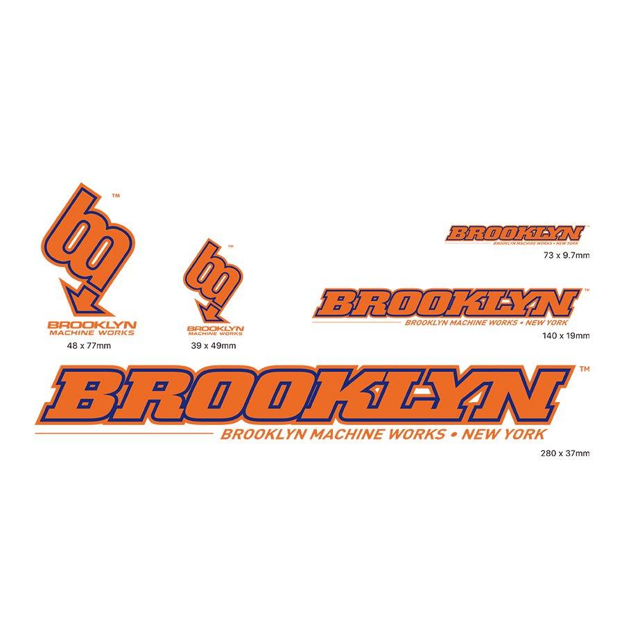 BROOKLYN MACHINE WORKS - STICKER SET - ORANGE / BLUE