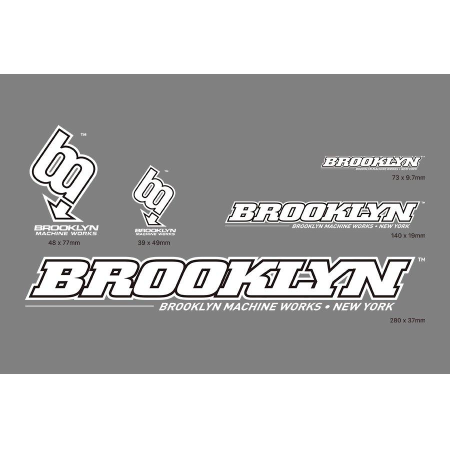 BROOKLYN MACHINE WORKS -  STICKER SET -  WHITE / BLACK
