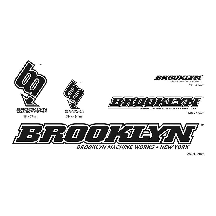 BROOKLYN MACHINE WORKS - STICKER SET - BLACK / WHITE