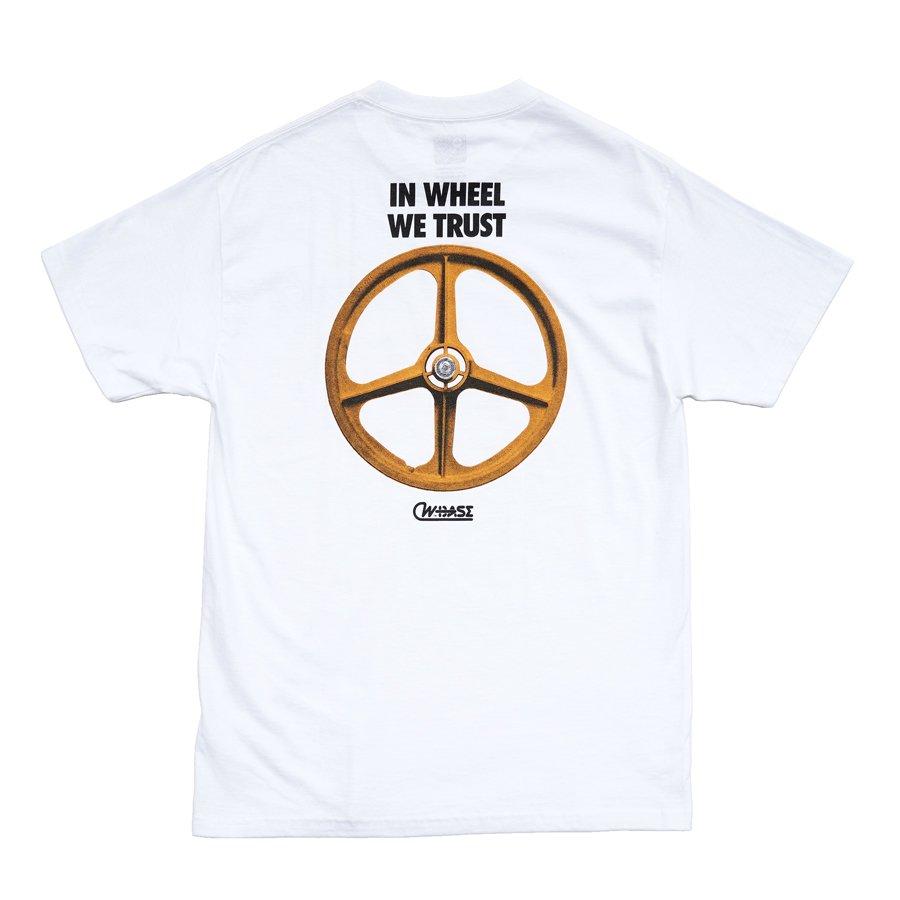 W-BASE - RIDE PEACE TEE - WHITE