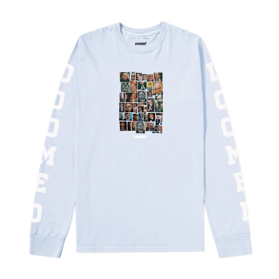 <img class='new_mark_img1' src='//img.shop-pro.jp/img/new/icons1.gif' style='border:none;display:inline;margin:0px;padding:0px;width:auto;' />DOOMED - Establishment Long Sleeve - Light Blue