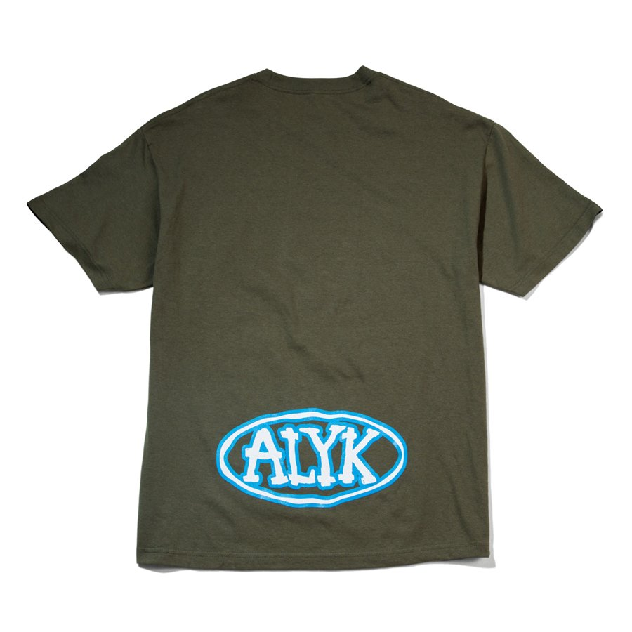 ACT LIKE YOU KNOW - OVAL T-SHIRT - WHITE/BLUE/ARMY GREEN