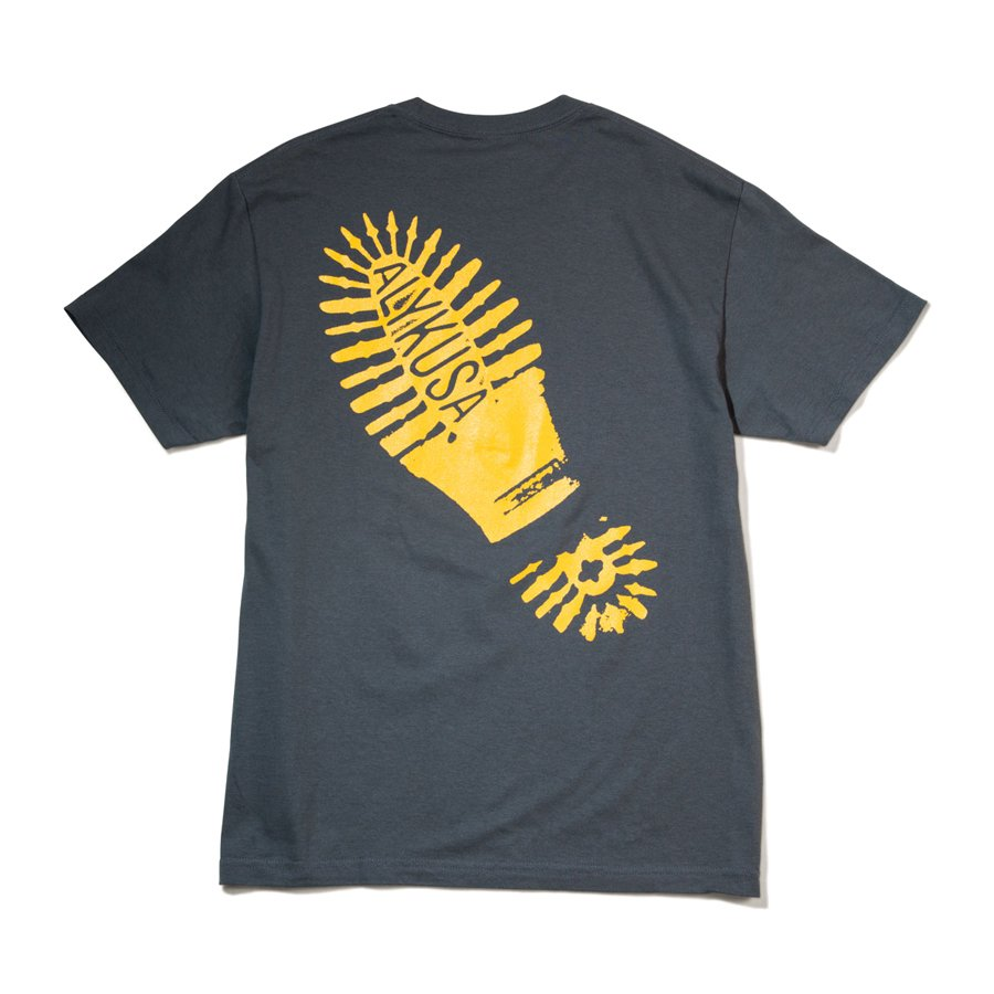 ACT LIKE YOU KNOW - FOOT PRINT T-SHIRT - YELLOW/GRAY