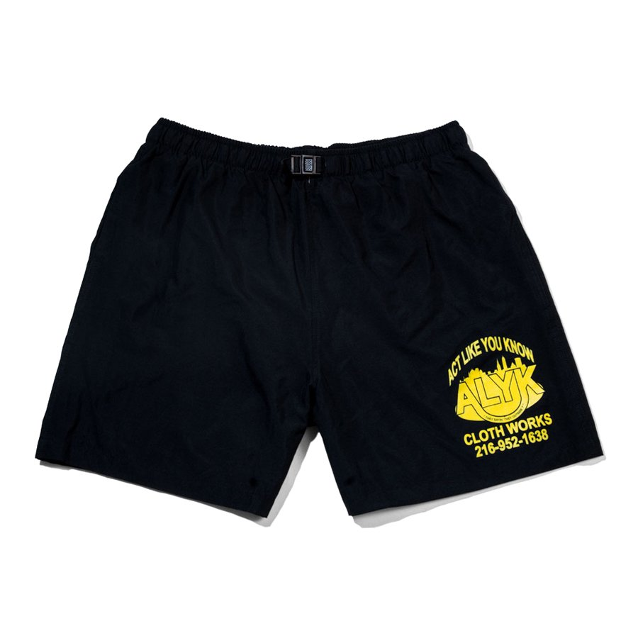<img class='new_mark_img1' src='https://img.shop-pro.jp/img/new/icons5.gif' style='border:none;display:inline;margin:0px;padding:0px;width:auto;' />ACT LIKE YOU KNOW - STREET CLOTH MICROFIBER SHORTS - YELLOW/BLACK