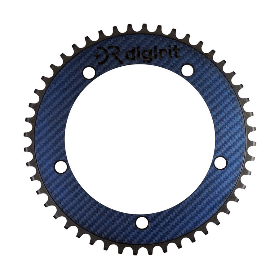 <img class='new_mark_img1' src='https://img.shop-pro.jp/img/new/icons1.gif' style='border:none;display:inline;margin:0px;padding:0px;width:auto;' />digirit - CARBON CHAINRING -  3K TRACK CHAMELEON BLUEPURPLE