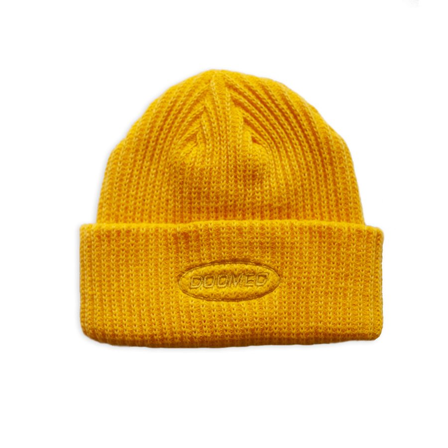 <img class='new_mark_img1' src='https://img.shop-pro.jp/img/new/icons5.gif' style='border:none;display:inline;margin:0px;padding:0px;width:auto;' />DOOMED - NAUGHTYS MUSTARD BEANIE