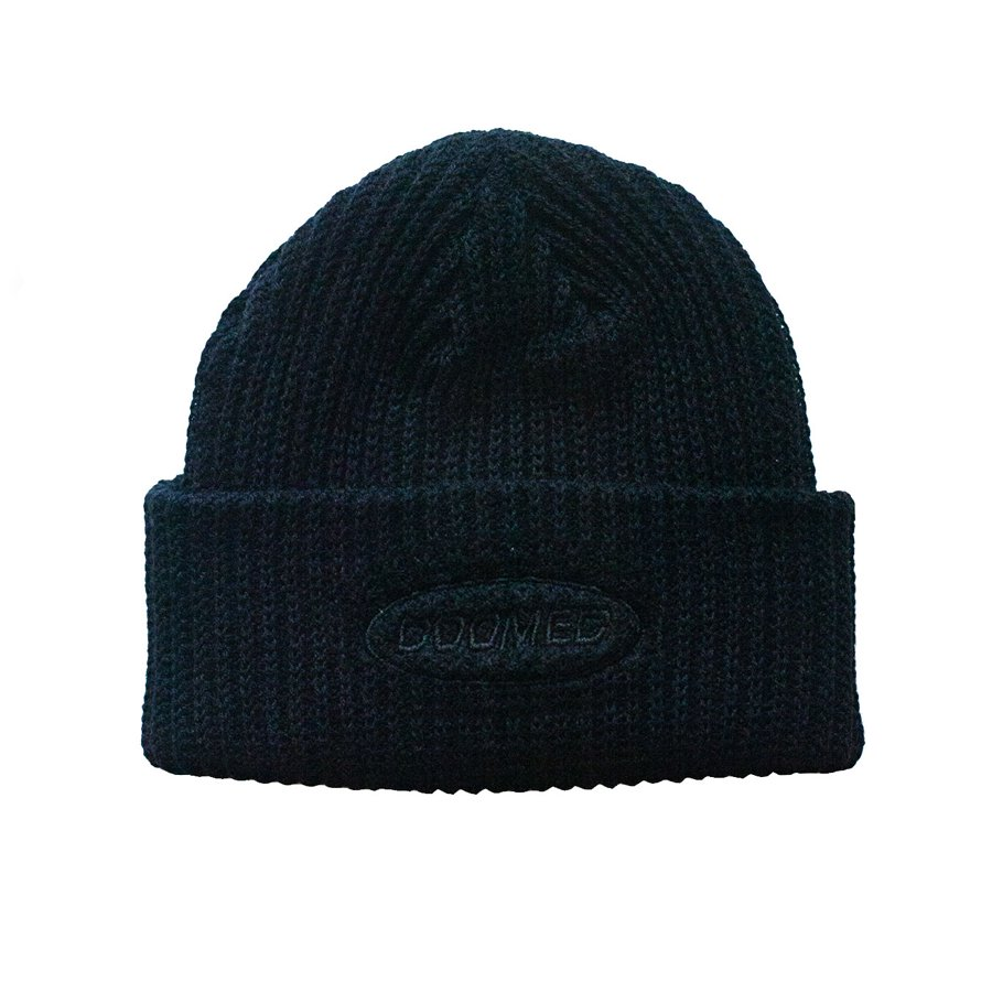 <img class='new_mark_img1' src='https://img.shop-pro.jp/img/new/icons5.gif' style='border:none;display:inline;margin:0px;padding:0px;width:auto;' />DOOMED - NAUGHTYS BLACK BEANIE